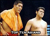 Top Ten Asian Professional Wrestlers