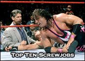 Top Ten Professional Wrestling Screwjobs